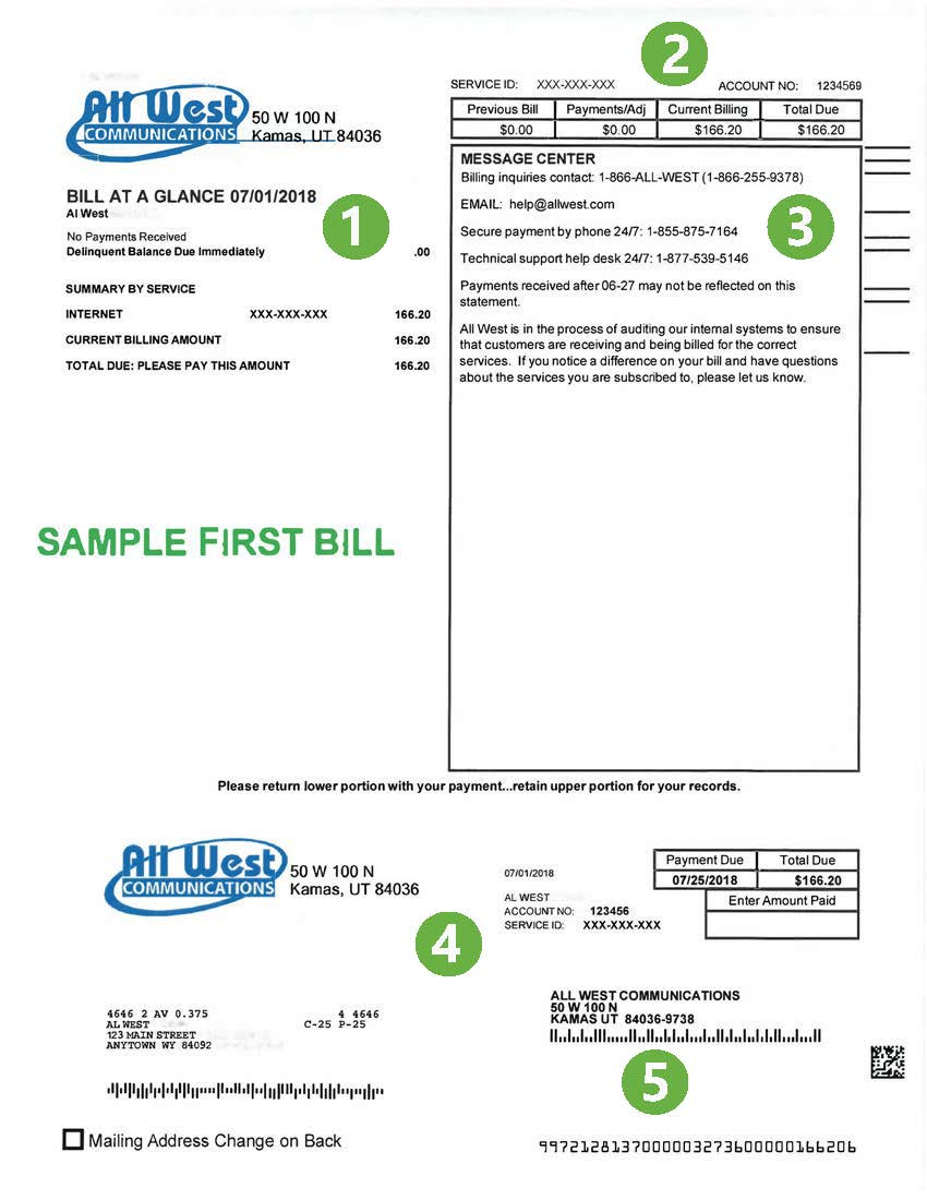First-bill-page-one